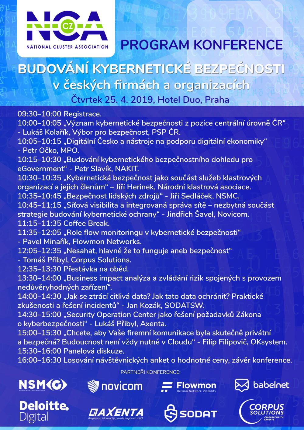 Budování kybernetické bezpečnosti @ Hotel Duo, Praha
